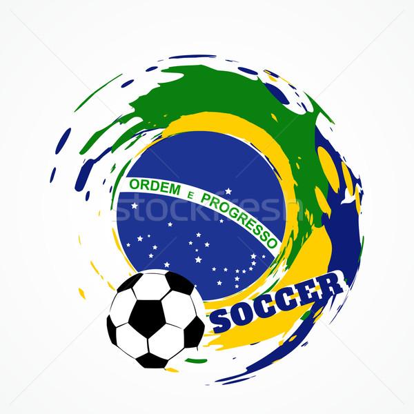 Abstrato jogo de futebol Brasil futebol jogo projeto Foto stock © Pinnacleanimates