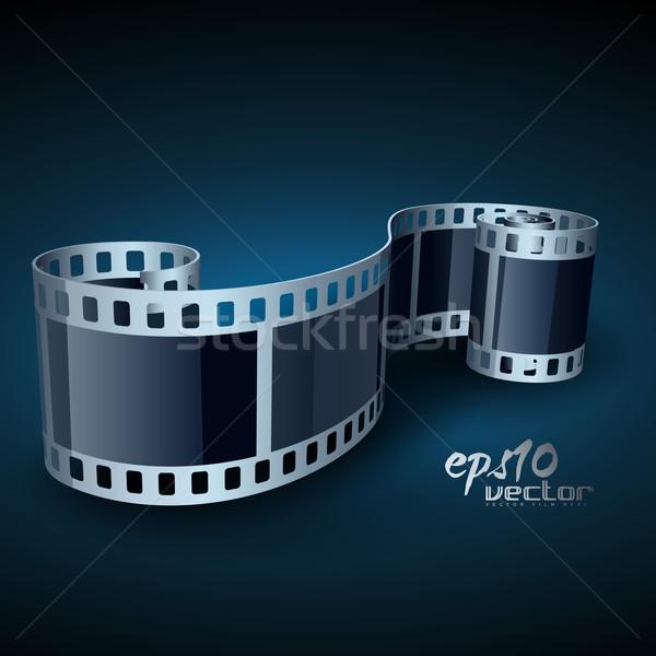 現実的な ベクトル リール 映画 3D 映画リール ストックフォト © Pinnacleanimates