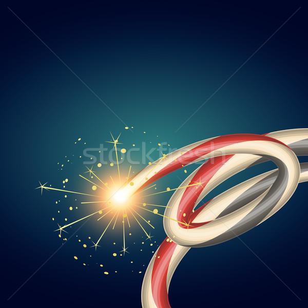 Stock photo: diwali burning crackers