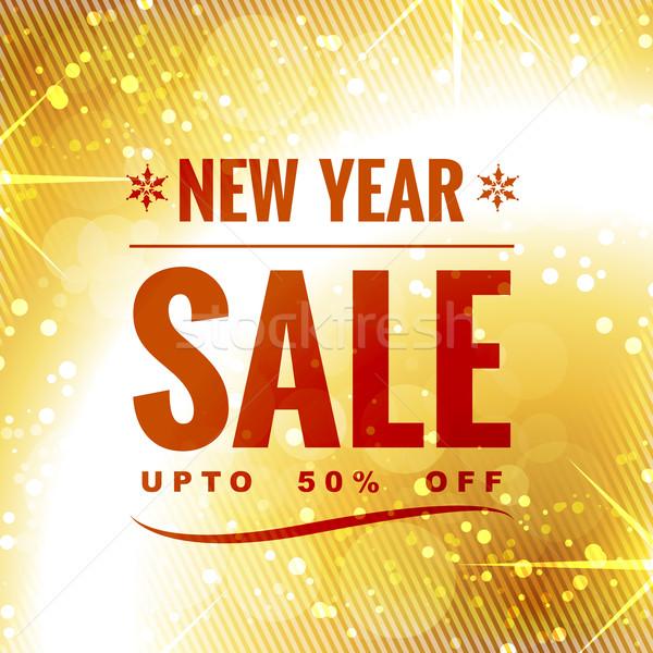 new year sale design Stock photo © Pinnacleanimates