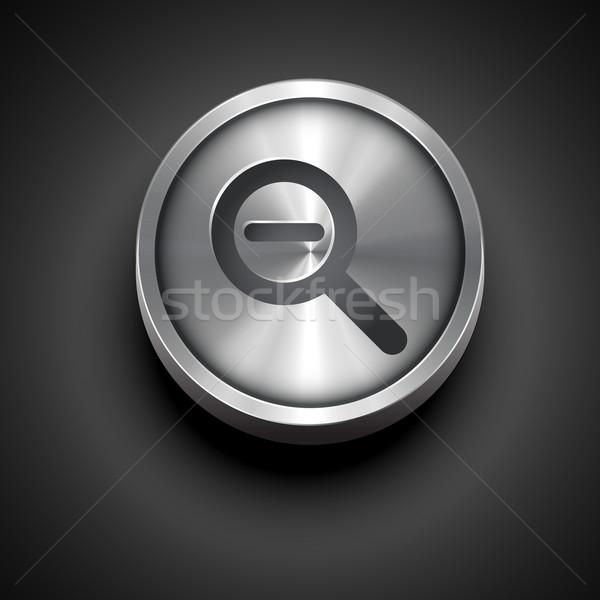 Zoom ícone vetor metálico projeto negócio Foto stock © Pinnacleanimates