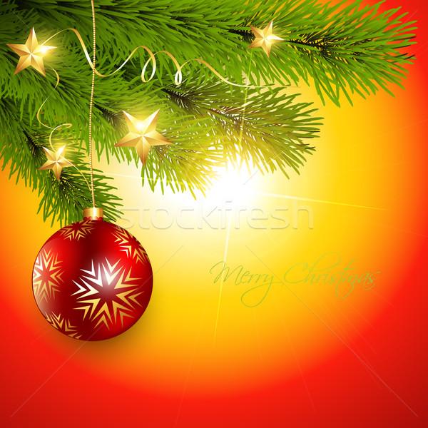 Noel uzay ışık arka plan çerçeve star Stok fotoğraf © Pinnacleanimates