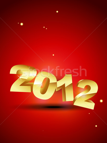 golden new year Stock photo © Pinnacleanimates