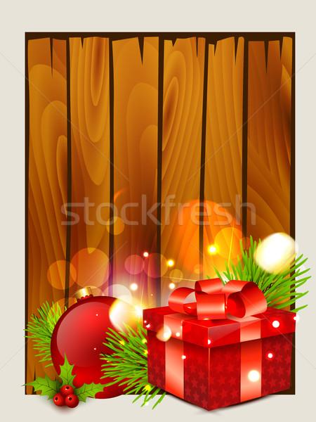 Рождества красивой пространстве древесины искусства зеленый Сток-фото © Pinnacleanimates