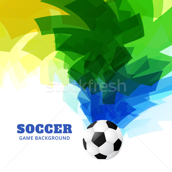 Foto stock: Resumen · partido · de · fútbol · hermosa · diseno · fútbol · deportes