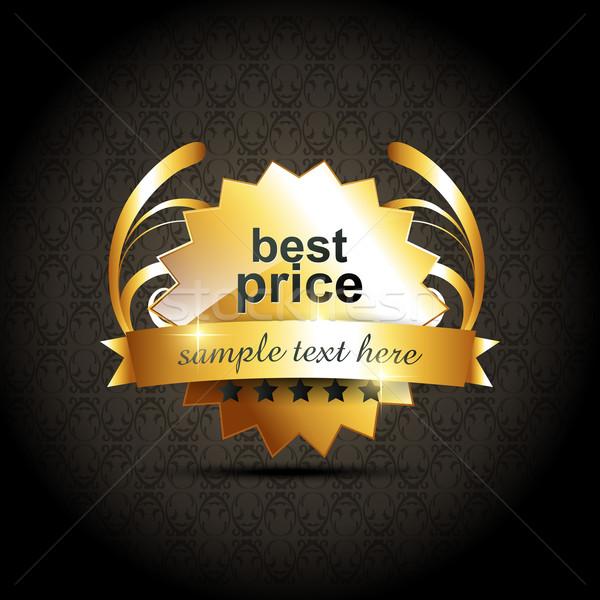 Vektor legjobb ár címke terv felirat hirdetés Stock fotó © Pinnacleanimates