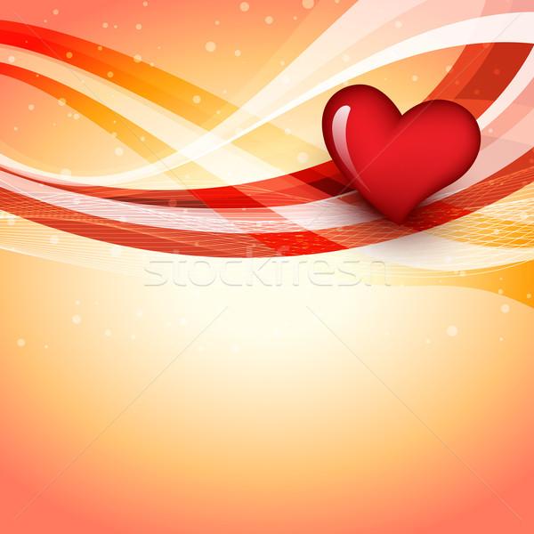 Сток-фото: вектора · сердце · иллюстрация · любви · аннотация