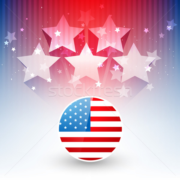 Stylish amerikanische Flagge Design Vektor Hintergrund blau Stock foto © Pinnacleanimates