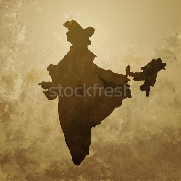 Vektör Hint harita dizayn örnek soyut Stok fotoğraf © Pinnacleanimates