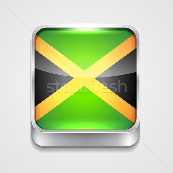 Vlag Jamaica vector 3D stijl icon Stockfoto © Pinnacleanimates