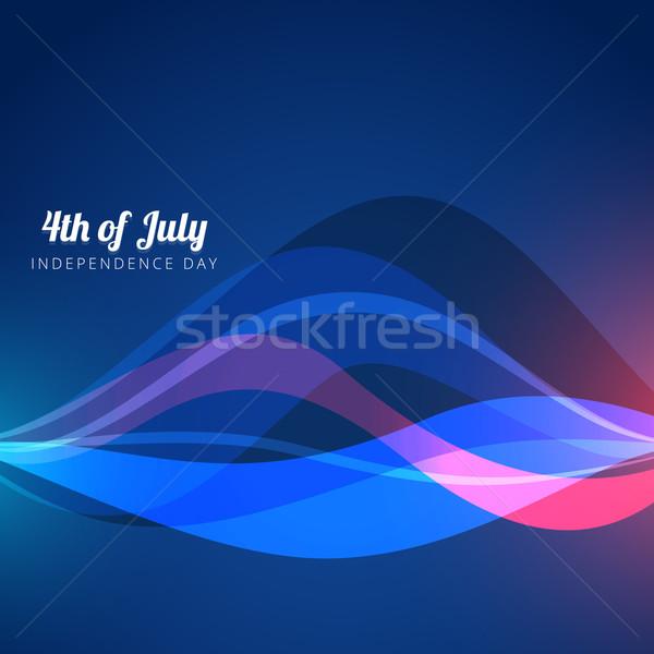 Negyedike terv hullám stílus absztrakt szabadság Stock fotó © Pinnacleanimates