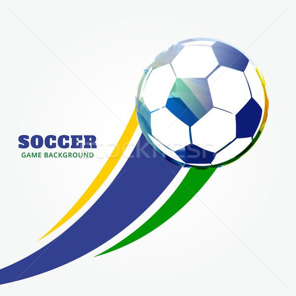 Vector partido de fútbol elegante diseno arte fútbol Foto stock © Pinnacleanimates