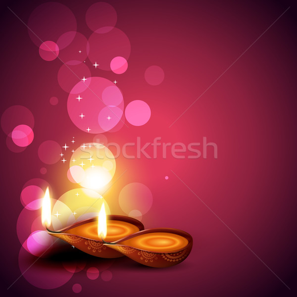 Stock photo: artistic diwali background
