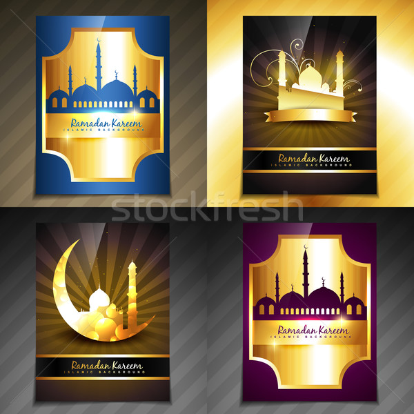 Vector ingesteld aantrekkelijk brochure ramadan festival Stockfoto © Pinnacleanimates