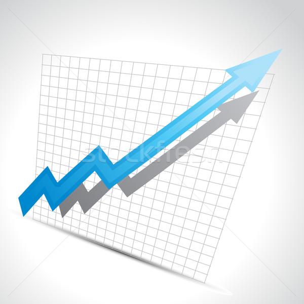 vector business arrow Stock photo © Pinnacleanimates