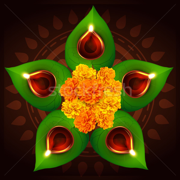 happy diwali festival Stock photo © Pinnacleanimates