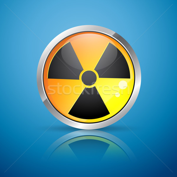 ядерной излучение знак вектора опасность осень Сток-фото © Pinnacleanimates
