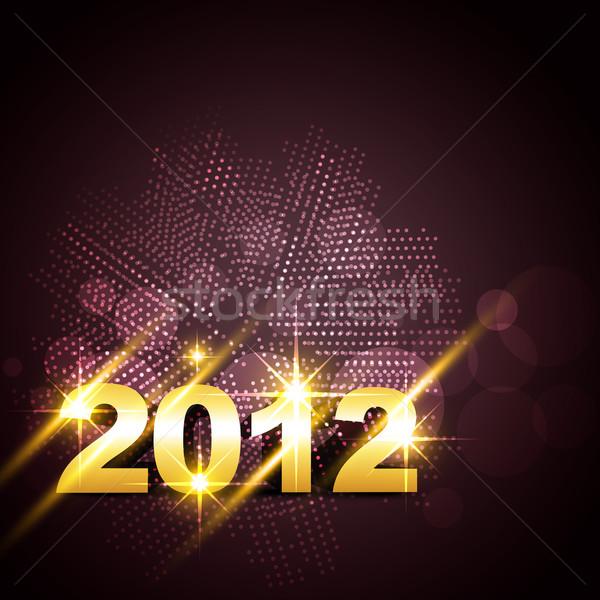 Boldog új évet vektor arany terv boldog művészet Stock fotó © Pinnacleanimates