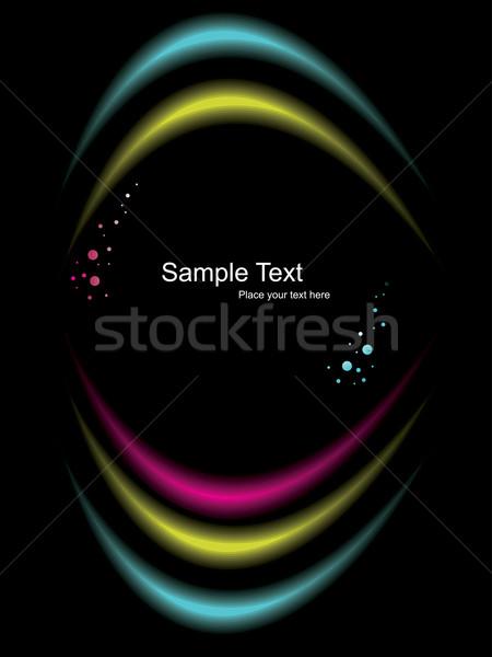 Wektora świetle efekt ciemne komputera streszczenie Zdjęcia stock © Pinnacleanimates