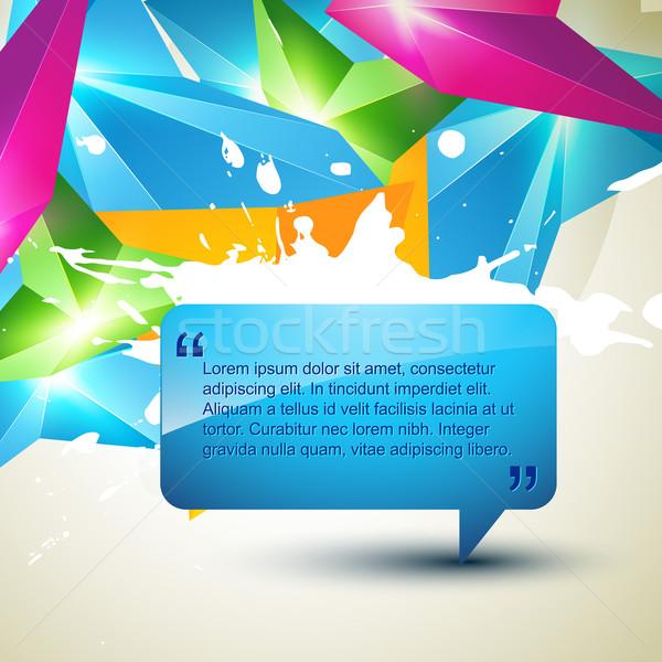 Wektora czat bańki streszczenie projektu sztuki czyste Zdjęcia stock © Pinnacleanimates