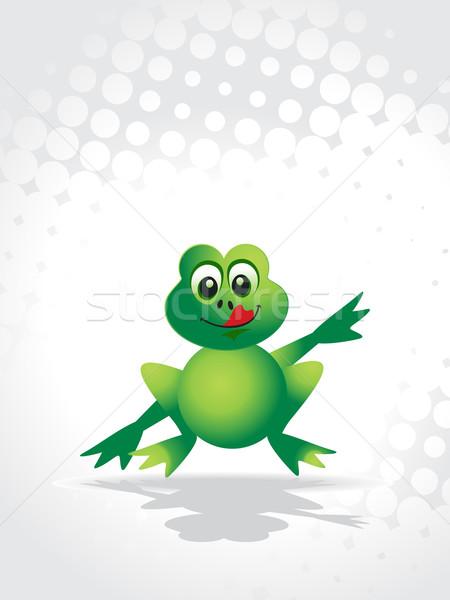 Stock photo: cute vector frog
