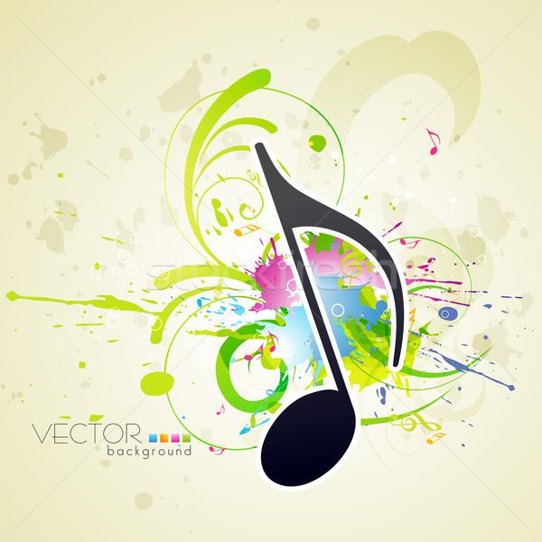 Zene stílus vektor terv absztrakt fény Stock fotó © Pinnacleanimates