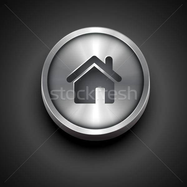 metallic home icon Stock photo © Pinnacleanimates