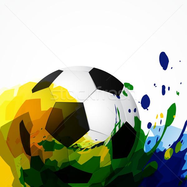 Vettore calcio design calcio sfondo sport Foto d'archivio © Pinnacleanimates