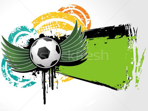 Football background grunge vector Stock photo © Pinnacleanimates