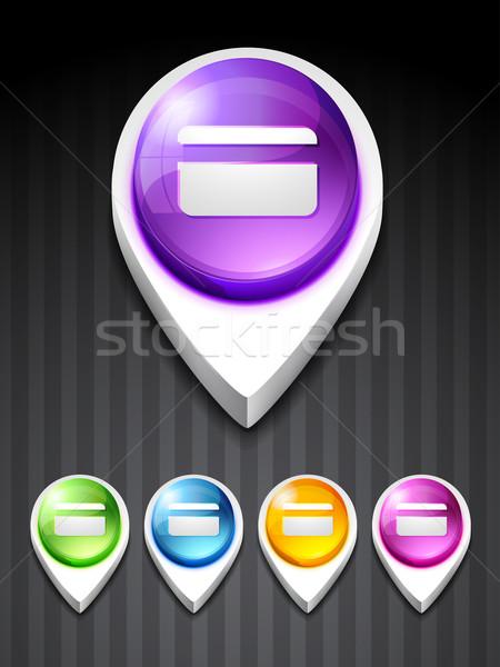 credit card icon Stock photo © Pinnacleanimates