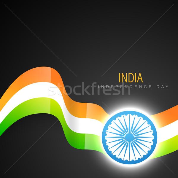 Indian bandiera design vettore arte Foto d'archivio © Pinnacleanimates