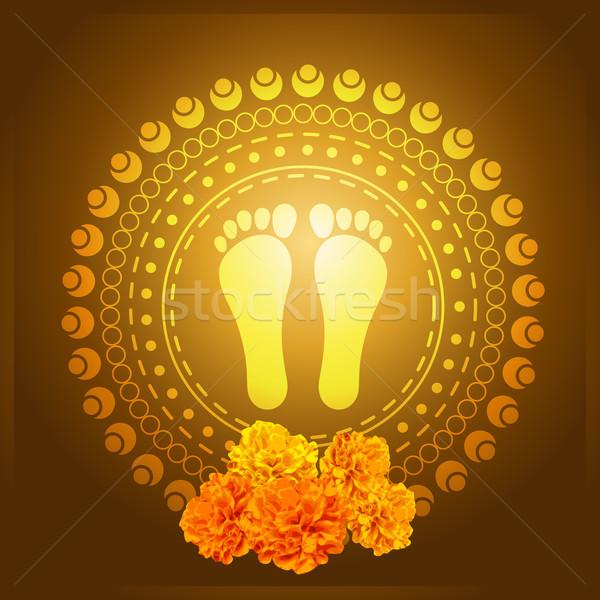 god foot print Stock photo © Pinnacleanimates