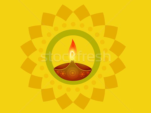 Stockfoto: Indian · diwali · festival · gelukkig · licht · lamp