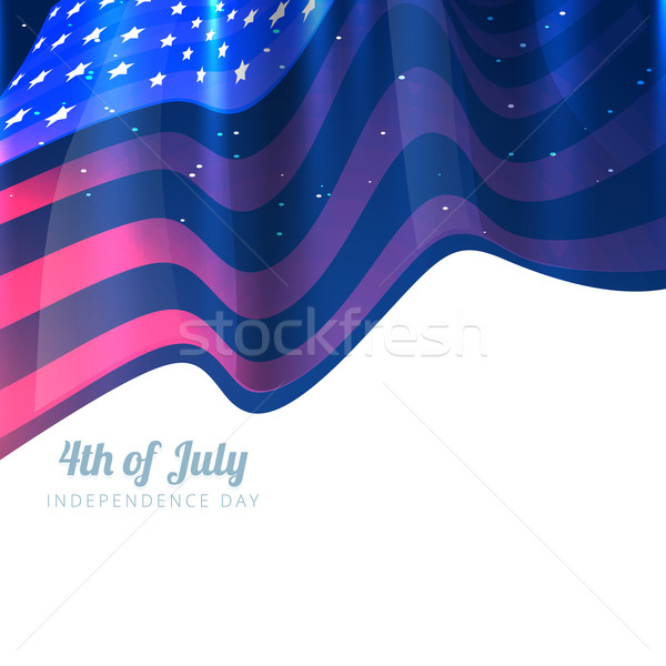 Stock photo: stylish 4th of july background