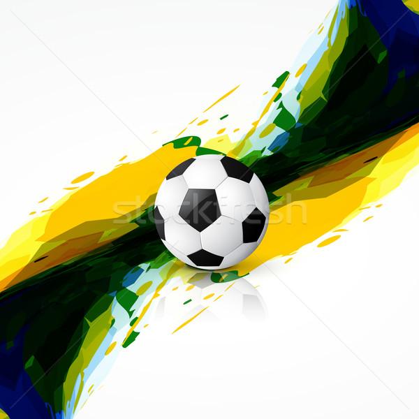 Foto stock: Grunge · juego · diseno · resumen · partido · de · fútbol · fútbol