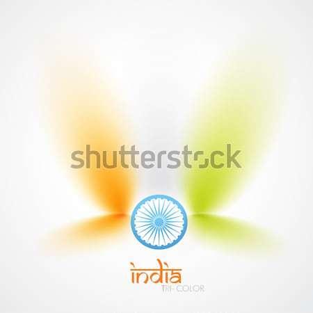 indian flag vector Stock photo © Pinnacleanimates