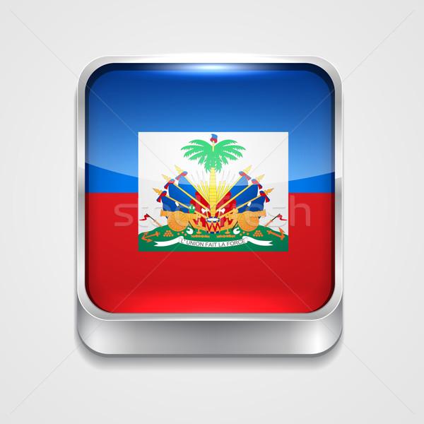 Pavillon Haïti vecteur 3D style icône Photo stock © Pinnacleanimates