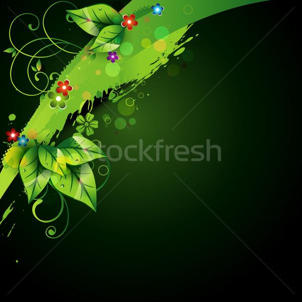 Absztrakt természet terv mű fű zöld Stock fotó © Pinnacleanimates