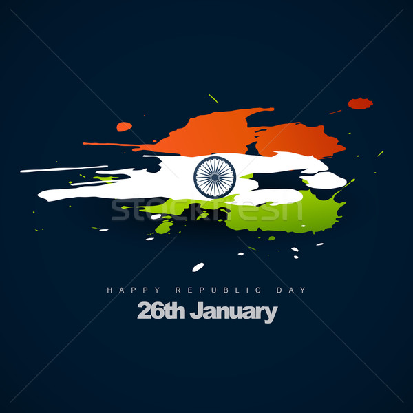 Indian vlag ontwerp vector artistiek abstract Stockfoto © Pinnacleanimates