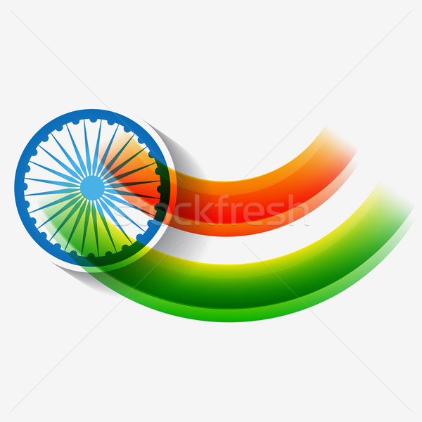 creative indian flag design Stock photo © Pinnacleanimates