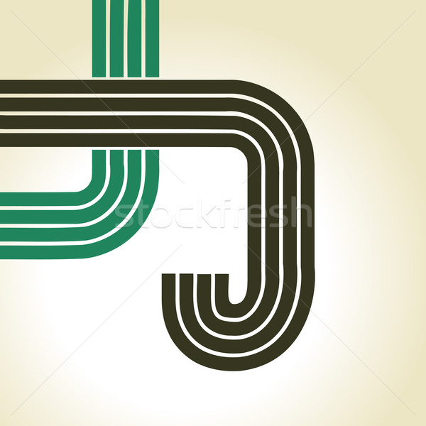 Stock fotó: Vektor · retró · stílus · terv · papír · textúra · absztrakt