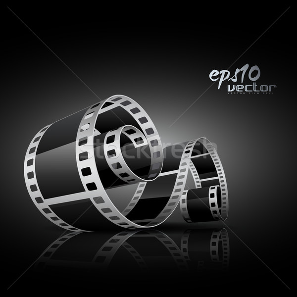 Realistisch vector film 3D film reel Stockfoto © Pinnacleanimates