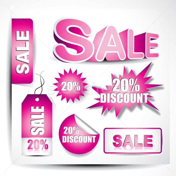 Stok fotoğraf: Vektör · satış · elemanları · ayarlamak · arka · plan · sanat