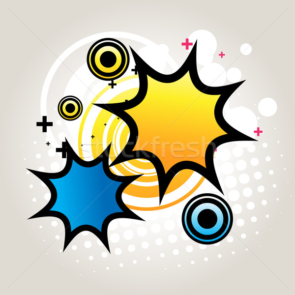 Abstract funky start vector ontwerp achtergrond Stockfoto © Pinnacleanimates