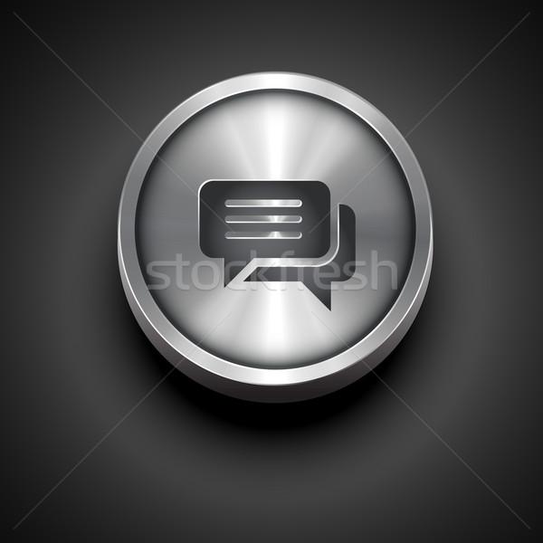 metallic chat icon Stock photo © Pinnacleanimates