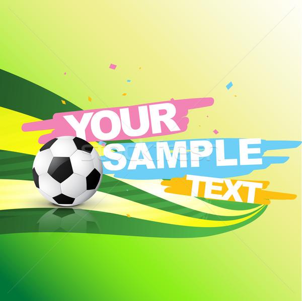 vector abstract football background  Stock photo © Pinnacleanimates