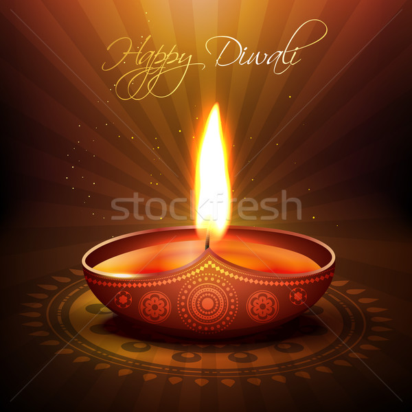 Stock photo: diwali festival diya