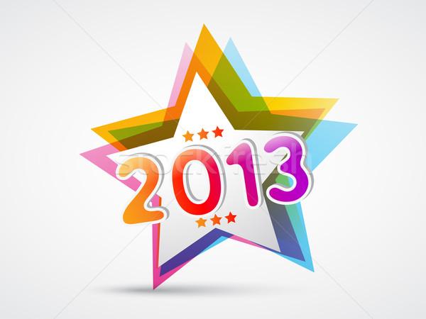 colorful new year design Stock photo © Pinnacleanimates