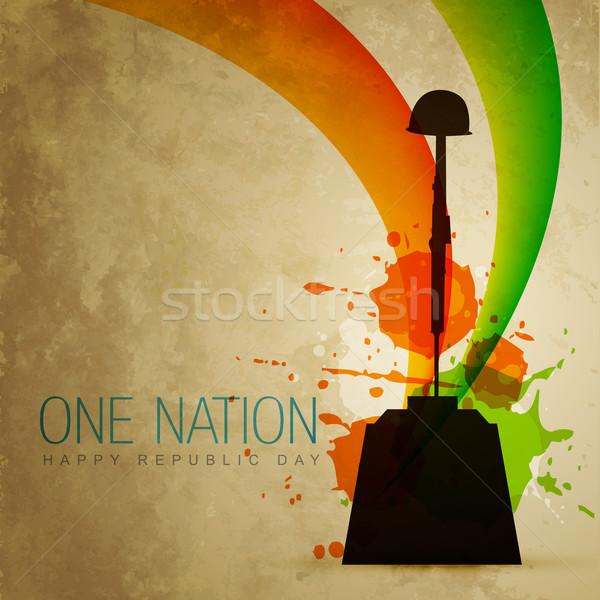 patriotic indian flag Stock photo © Pinnacleanimates