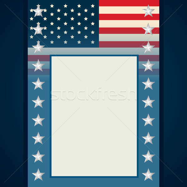 american independence day flyer Stock photo © Pinnacleanimates